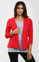 Eli Cropped Sleeve Blazer In Red by Oops Fashion
