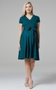 Maternity & Nursing Midi Skater Dress in Dark Green 598 by Chelsea Clark