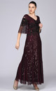 Norma Embellished Maxi Dress in Plum Purple by Gatsbylady London