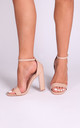 Tori Nude Patent Barely There Heel by Linzi