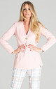 Double Button Blazer in Light Pink by FIGL