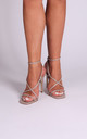 Effie Taupe Nappa Strappy Stiletto Heels by Linzi