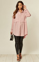 Pink Oversized Long Sleeve Relaxed Fit Shirt by HOXTON GAL