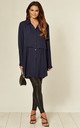 Navy Oversized Long Sleeve Relaxed Fit Shirt by HOXTON GAL