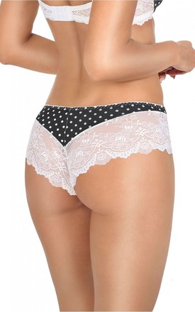 Brodie Knickers in Black & White Polka Dot by BB Lingerie