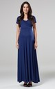 Maternity & Nursing Maxi Dress in Navy 599 by Chelsea Clark