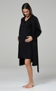 Black Maternity Hospital Set | Robe Nightie & Bag by Chelsea Clark