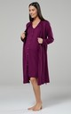 Plum Maternity Hospital Set | Robe Nightie & Bag by Chelsea Clark
