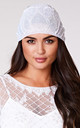 Beatrice Flapper Turban in White by Gatsbylady London