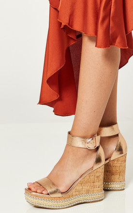 Rose Gold Platform Wedges by Truffle Collection Product photo