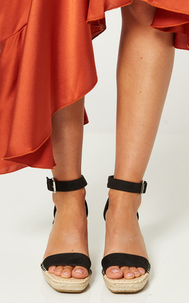 Black Wedges With Buckle Ankle Strap by Truffle Collection