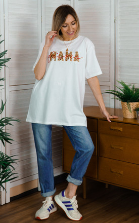 White Oversized Slogan Tshirt with Fierce Mama Slogan by Rock On Ruby
