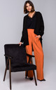 High Waisted Wide Leg Trousers in Orange by MOE
