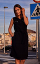 Sleeveless Shift Dress with Zips in Black by MOE