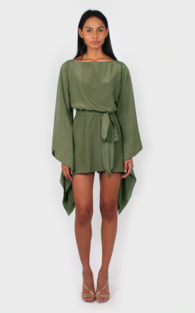 Holly Belted Mini Dress in Light Khaki by Bullet