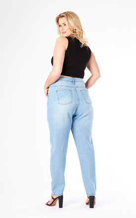 Plus Straight Leg Light Blue Wash Jean by J-Mojo Denim