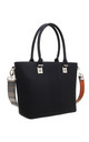 BLACK LASER CUT TOTE BAG WITH CHUNKY STRAP by BESSIE LONDON