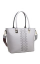 GREY LASER CUT TOTE BAG WITH CHUNKY STRAP by BESSIE LONDON