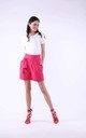 Shorts with Side Pockets in Pink by Bergamo