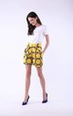 Shorts with Side Pockets in Yellow by Bergamo