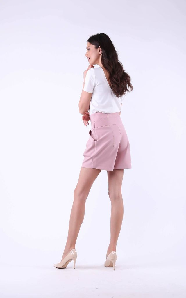Shorts with Side Pockets in Powder by Bergamo