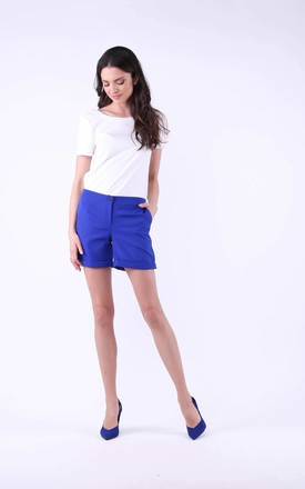 Blue Elegant Shorts with Pockets by Bergamo