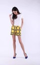 Yellow Elegant Shorts with Pockets by Bergamo