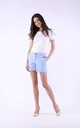 Light Blue Elegant Shorts with Pockets by Bergamo