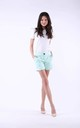 Mint Elegant Shorts with Pockets by Bergamo