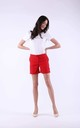 Red Elegant Shorts with Pockets by Bergamo