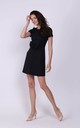 Black Mini Dress with Bow in Front by Bergamo