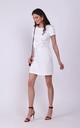 Ecru Mini Dress with Bow in Front by Bergamo