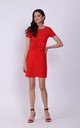 Red Mini Dress with Bow in Front by Bergamo