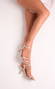 Lila Gold Low Heeled Sandals by Linzi
