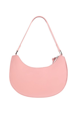 Curved Shoulder Bag in Patent Pink by My Accessories London