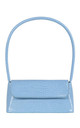 Lady Shoulder Bag in Blue croc by My Accessories London