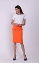 Knee Length Skirt with Pockets in Orange by Bergamo