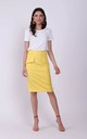 Knee Length Skirt with Pockets in Yellow by Bergamo