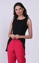 Sleeveless Top with Extended Back in Black by Bergamo