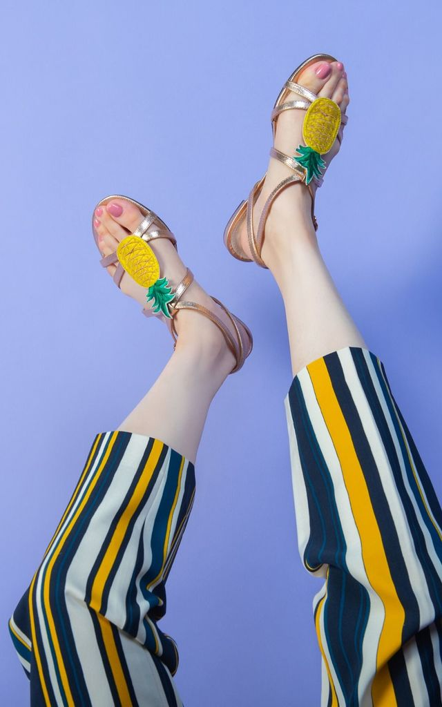 Herm Sandals with Pineapples by Yull Shoes