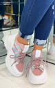 Kailey Sock Chunky Trainers In Pink by Larena Fashion