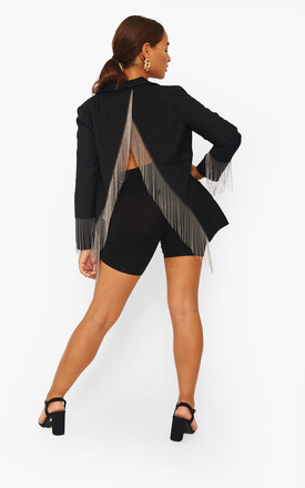 Black Blazer With Tassels by The Label Clothing