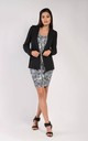 One Button Blazer in Black by Bergamo