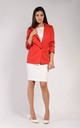 One Button Blazer in Red by Bergamo