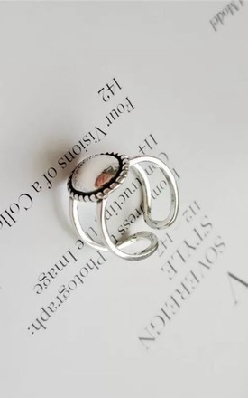 Silver Oval Statement Ring by Collections by Hayley