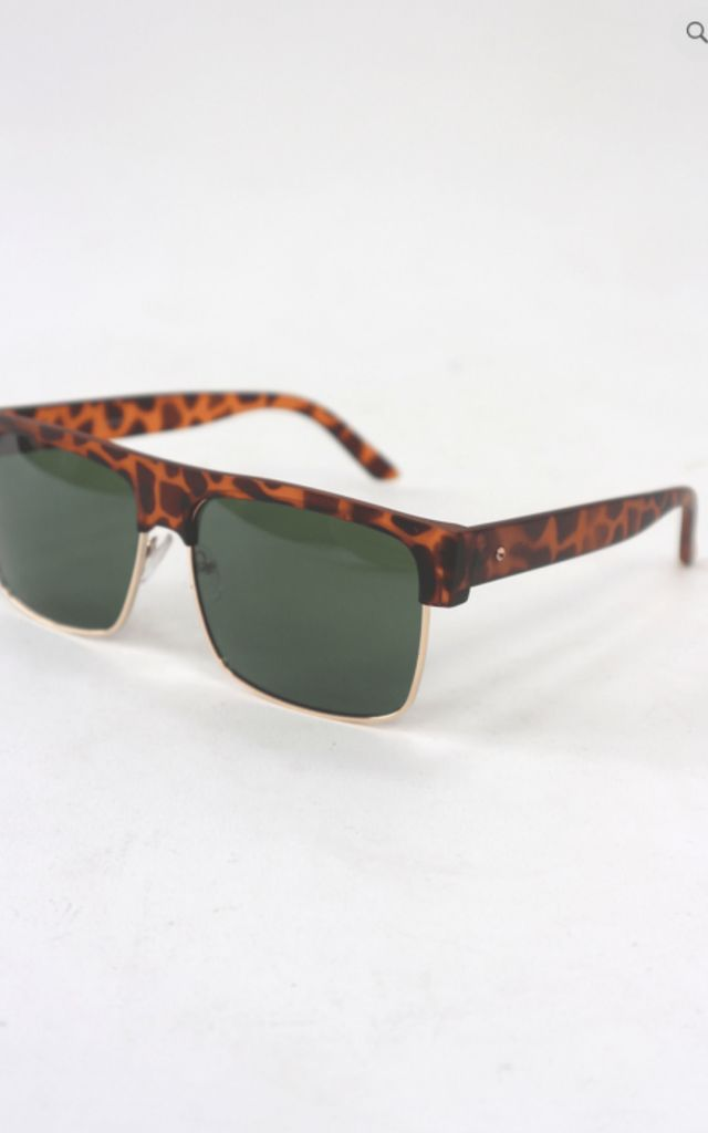 Printed square sunglasses by Unscripted