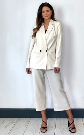 Double Breasted Blazer In Cream by VM Product photo