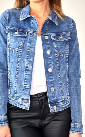 Denim Jacket In Medium Blue by ONLY Product photo