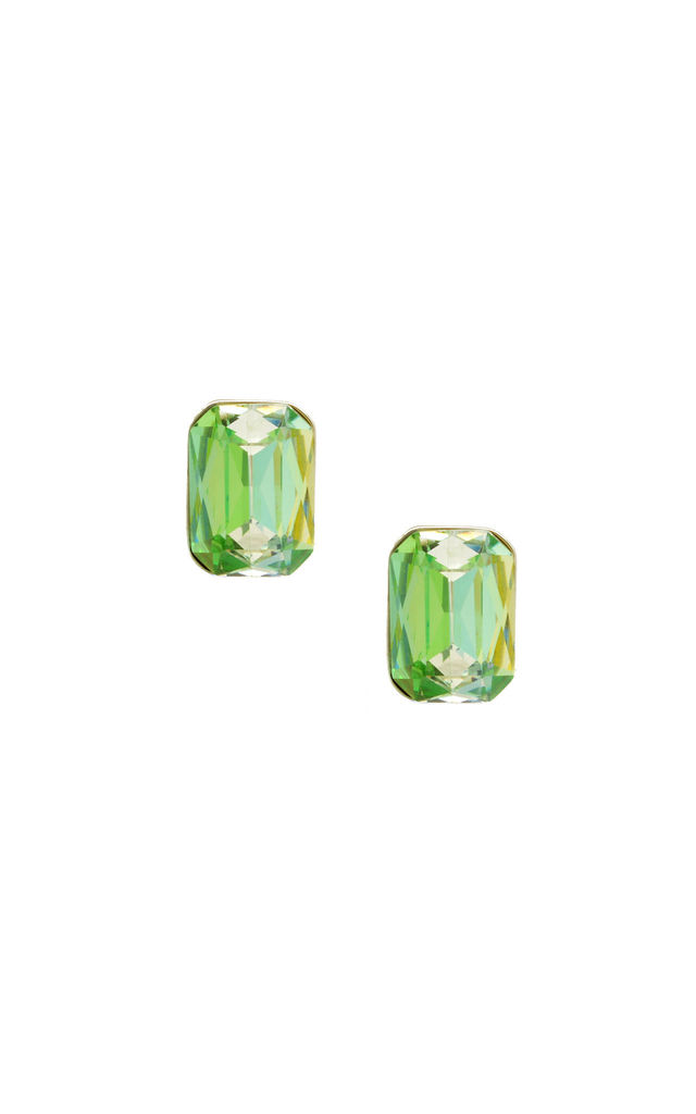 Single Gem Earrings in Ombre Green by LAST TRUE ANGEL
