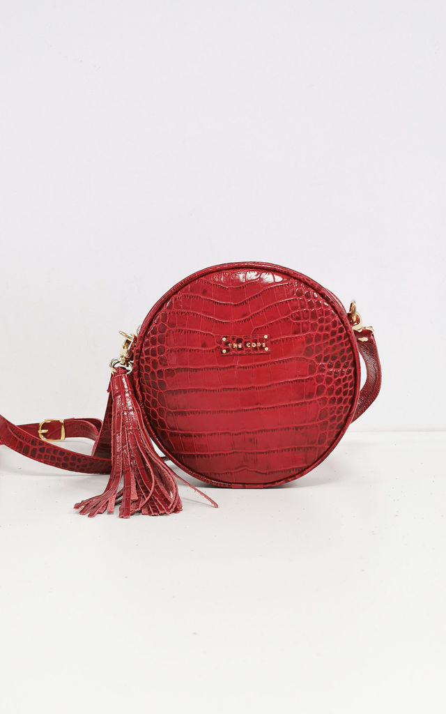 OLIVIA CROSSBODY BAG IN RED by THE CODE HANDBAGS